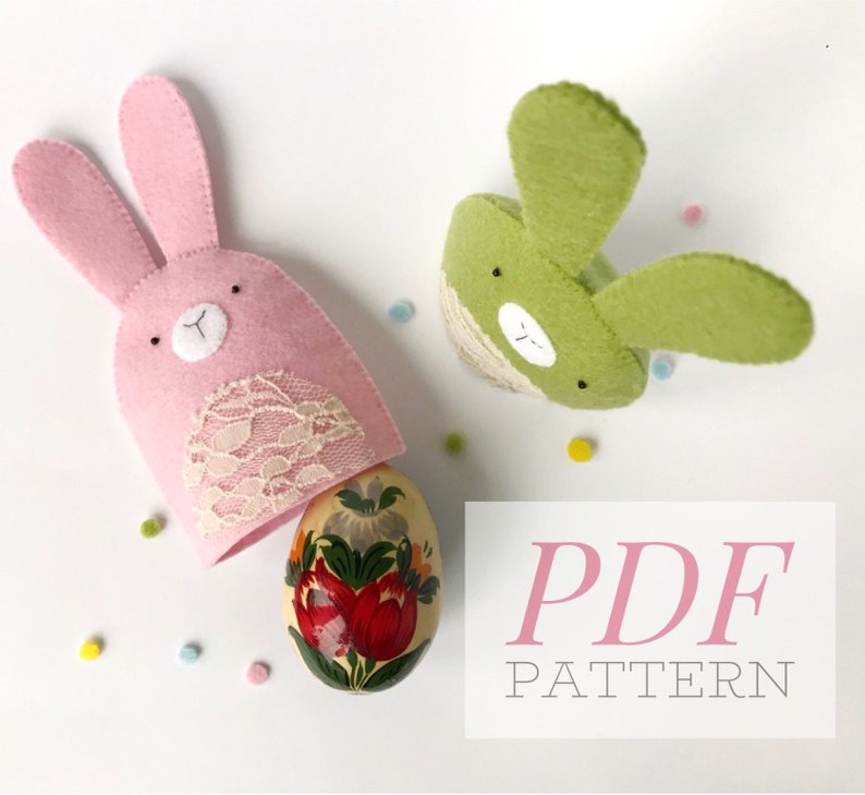 Easter Bunny Egg Holder pattern
