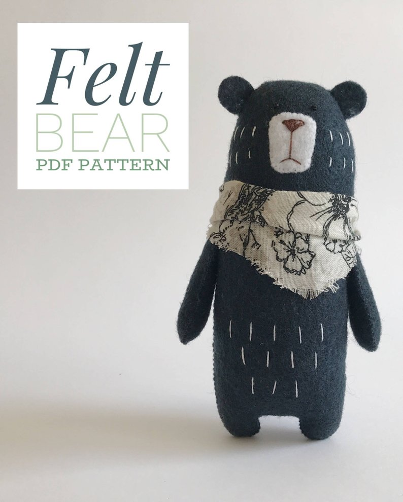 Teddy Felt Bear pattern