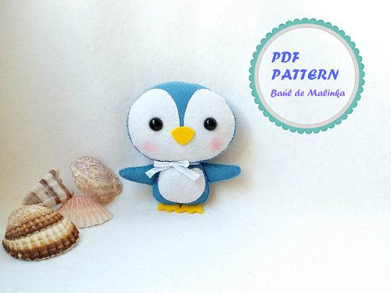 Felt penguin pattern PDF