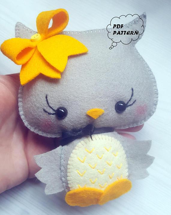 Owl PDF pattern-Woodland animals toy