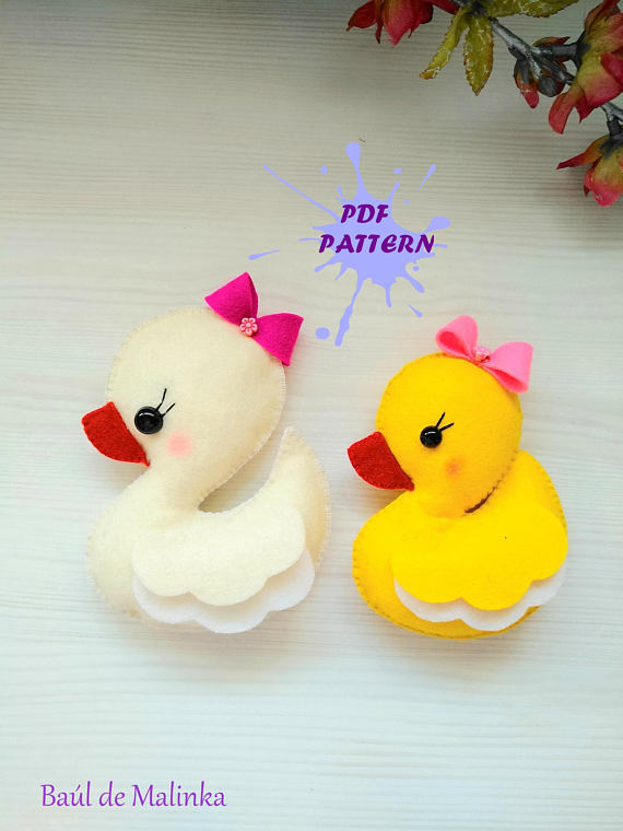 PDF Pattern - Duck Baby Girl