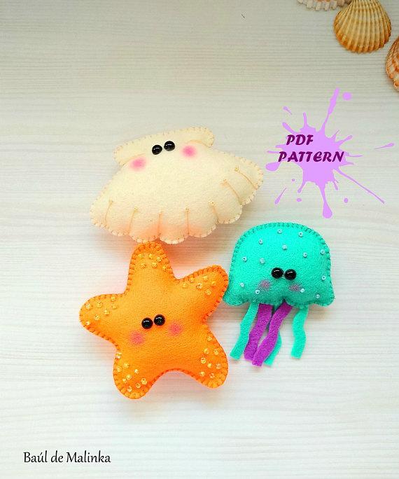 PDF Pattern -Felt Sea Creatures