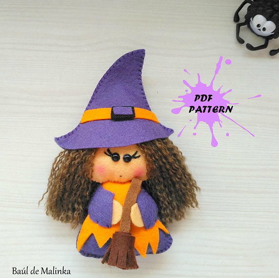 PDF Pattern - Witch Felt Pattern