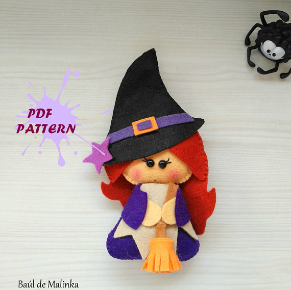 PDF Witch Felt Pattern