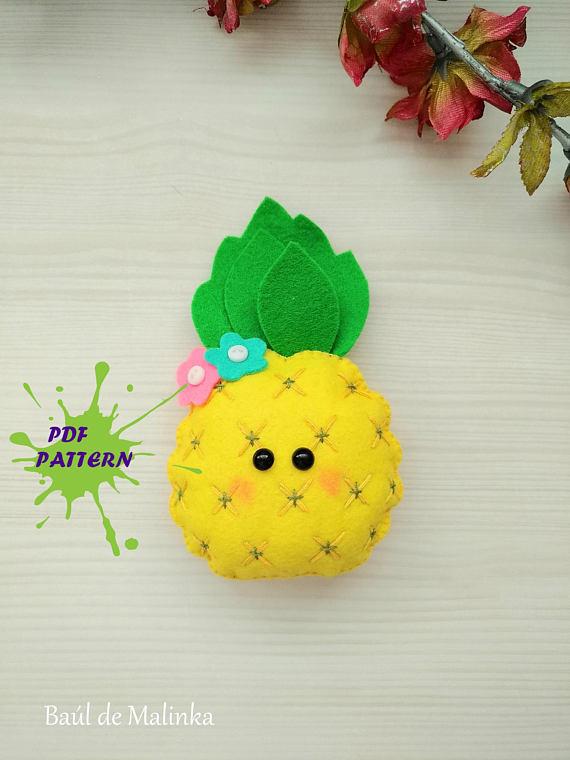 Pineapple PDF pattern- Fruit toy