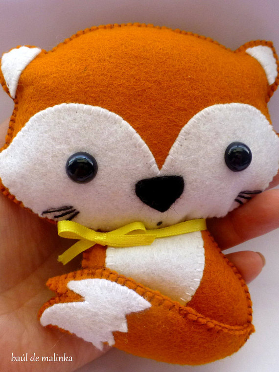 Soft felt toy pattern Little fox