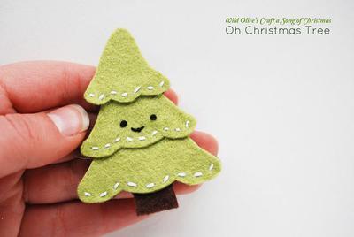 DIY Tutorial DIY felt CHRISTMAS TREE