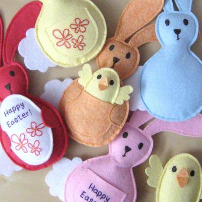 Easter Basket and Bunnies Sewing Pattern