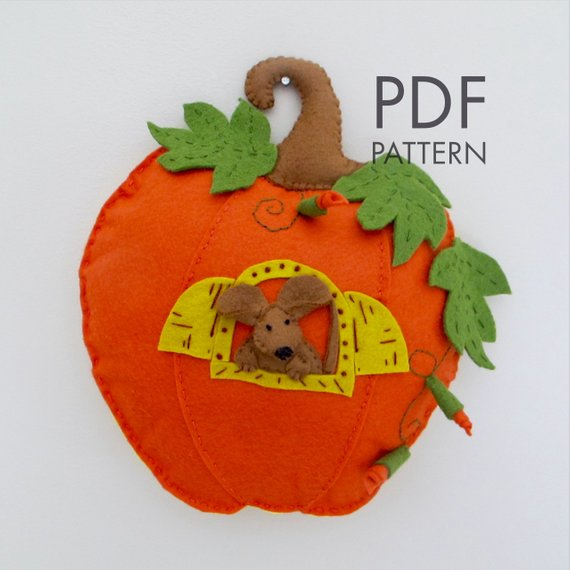 Felt Pumpkin House PDF Pattern.