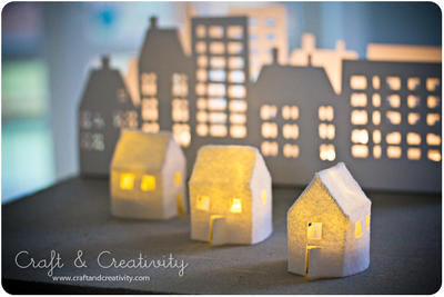 Craft of the Day, felt houses