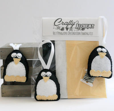 Felt Penguin Christmas Decoration Sewing Kit