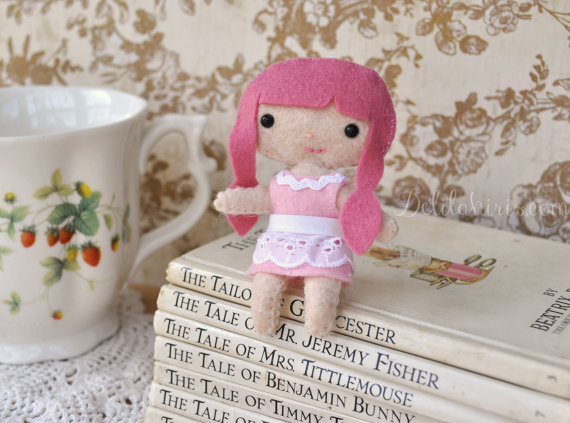 Felt Doll Pattern - Sassy Cutie Pie Pocket Doll