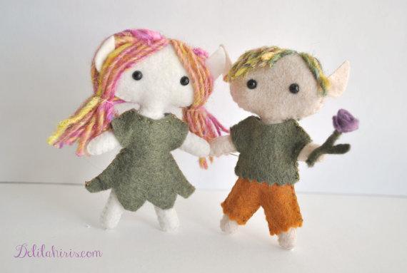 image regarding Elf Pattern Printable identified as Felt Elf Doll Behavior Woodland Printable PDF Miniature Doll