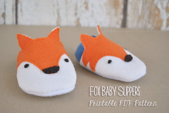 Felt Fox Baby Shoes Pattern- Sizes 3 - 12 Months