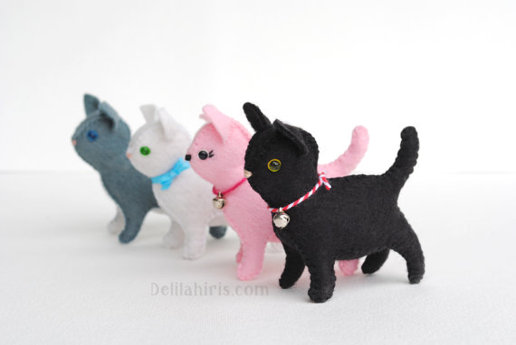 Mini Felt Cat Sewing Pattern