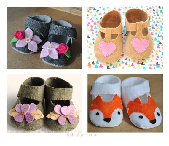 Paquete Zapatos Para Juegos Bebé De {4 Fieltro IY6gvf7by