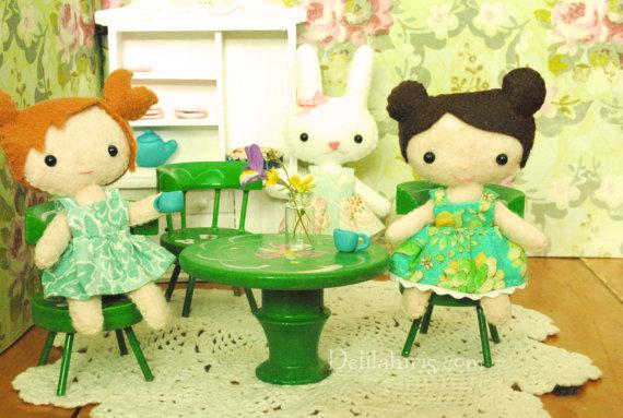 Set Of 3 Mini Felt Doll Patterns - Tiny Kawaii Pocket Doll Printable ...
