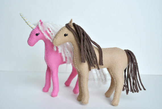Unicorn and Horse Felt Pattern