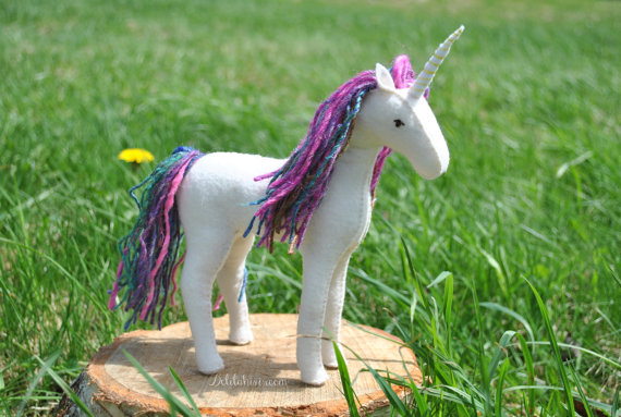 Unicorn Stuffed Animal Pattern - Felt Stuffed Unicorn Pattern