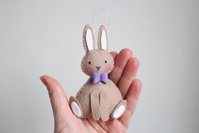 Felt rabbit pattern PDF