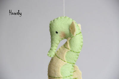 Felt Sea horse pattern PDF file