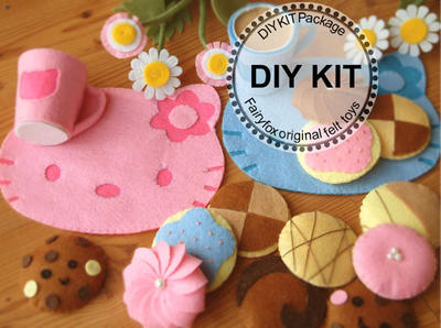DIY felt cookies and place mats Kit - Kit Galletitas de Fieltro