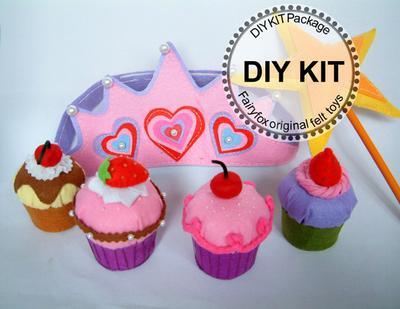 DIY Felt Cupcakes - Kit Cupcake de Fieltro