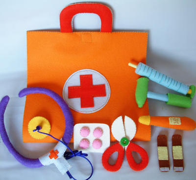 DIY Felt Medical bag - Maletín Doctor Patrón Fieltro