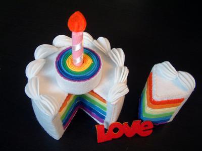 DIY felt rainbow cake - Tarta Amor de Fieltro