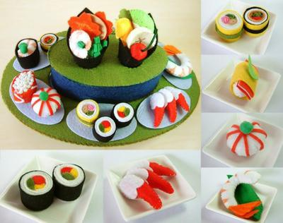 DIY felt Rotating Sushi set