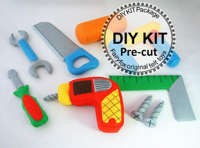 DIY felt Toolbox KIT Package - Kit Herramientas de Fieltro