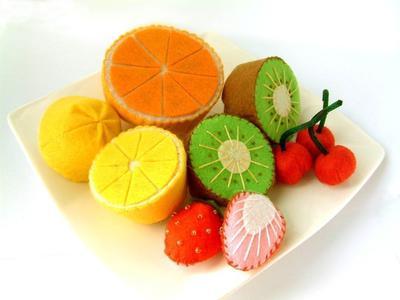 DIY Lovely fruit set (Lemon,Orange,Kiwi,Cherry,Strawberry)