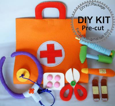 Doctor Set Felt Kit - Kit Maletin Doctor de fieltro