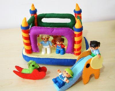Felt toys pattern-Bounce house,slide,rocking horse