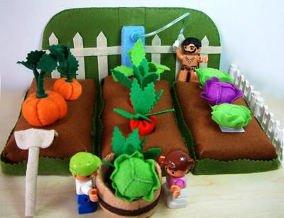 Felt Vegetables Garden - Huerto de Fieltro