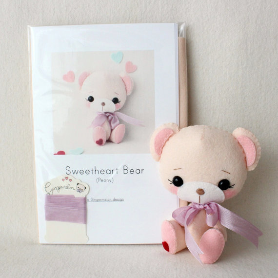 Bear Girl Felt Kit