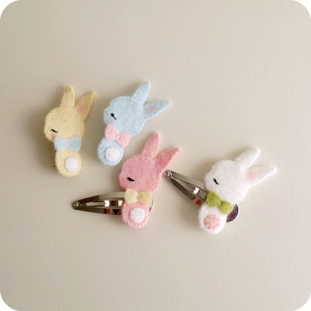 Bunny Barrette and Brooch Tutorial