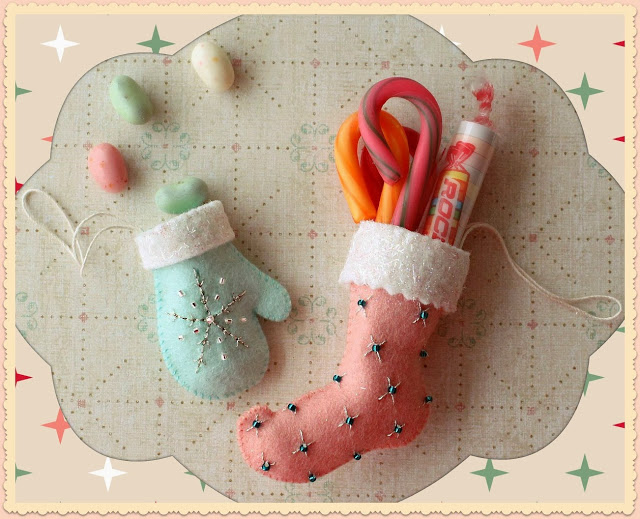 Christmas Stocking and Glove Ornaments