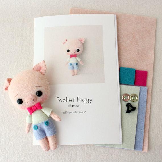 Hamlet bolsillo Piggy patrón Kit