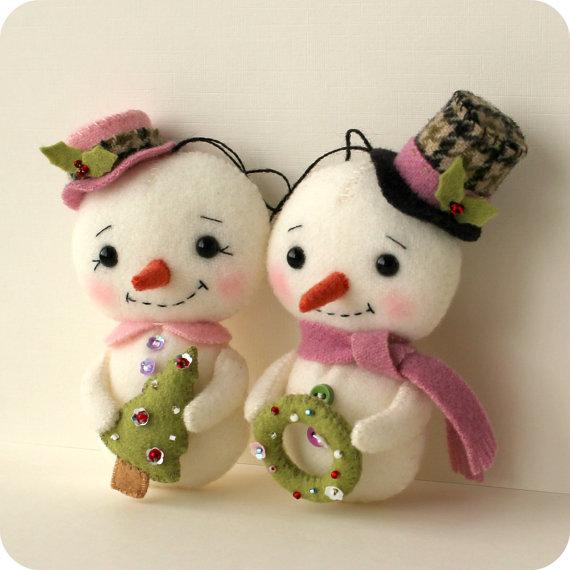 Pdf muñecos de nieve  - descarga instantánea