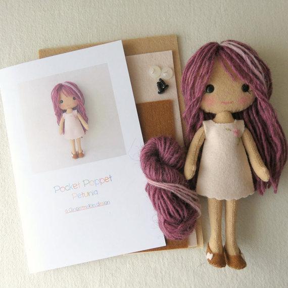 Petunia Pocket Doll Felt Kit