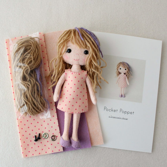 Pocket Doll Callie Felt KIt