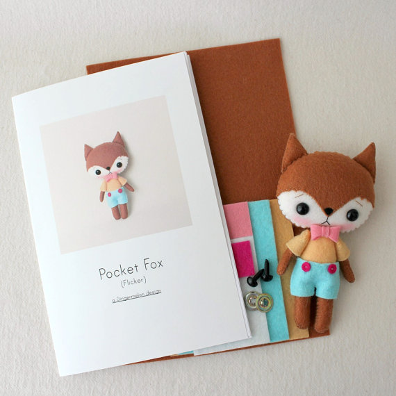 Pocket Fox Felt Kit