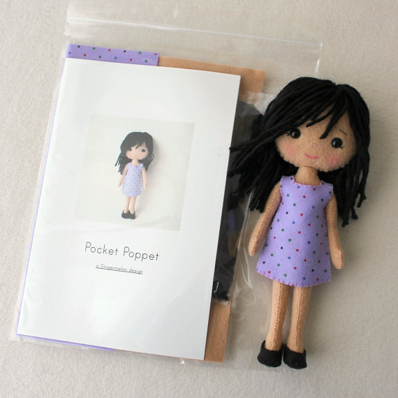 Pocket poppet Sophie Felt Kit
