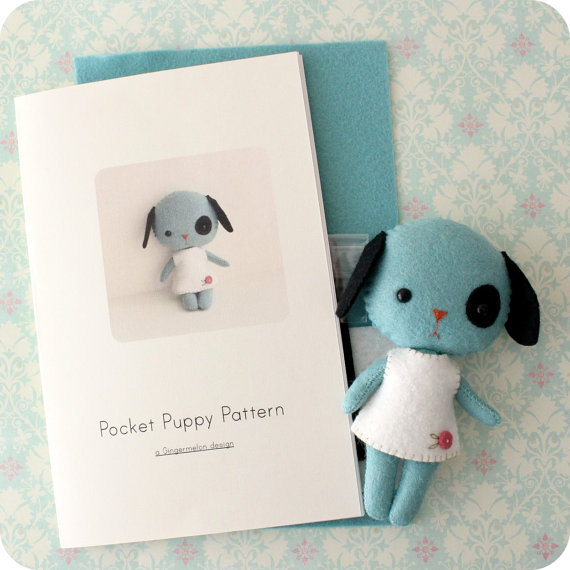 Pocket Puppy Felt Kit Pattern