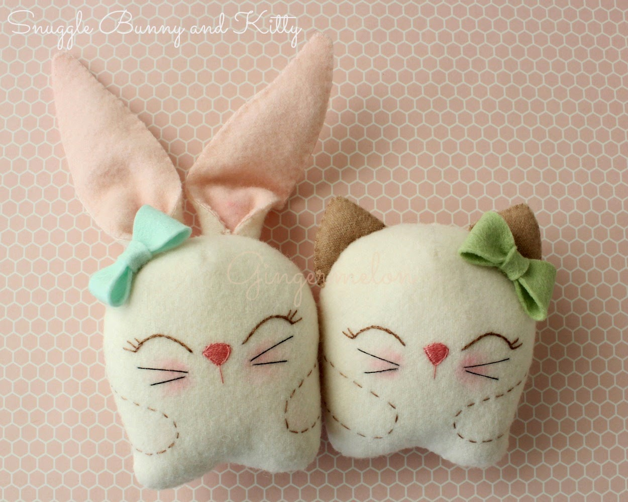 Tutorial - Snuggle Bunny and Kitty
