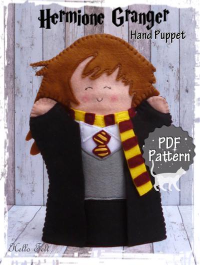Felt Hermione Granger Hand Puppet