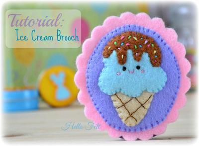 Ice Cream Brooch