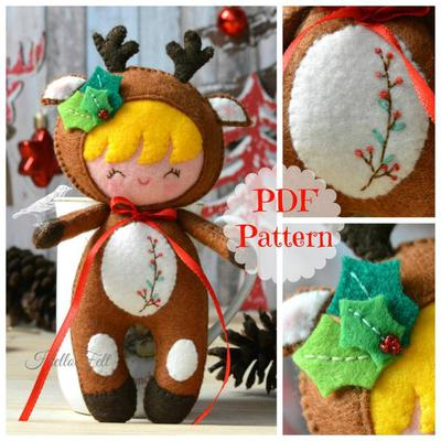 Xmas Little Reindeer, Christmas Pattern