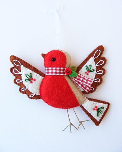 PDF pattern - Cute Christmas Robin